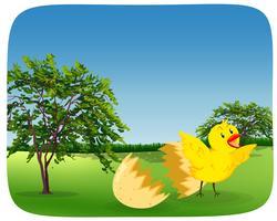 Chick kläckande ägg i naturen vektor