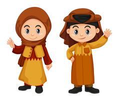 Qatar barn i traditionell kostym