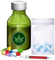 Verschiedene Arten von Drogen vektor