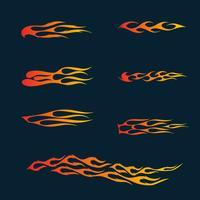 Feuerflammen im Tribal Style für Tattoo-, Fahrzeug- und T-Shirt-Deko