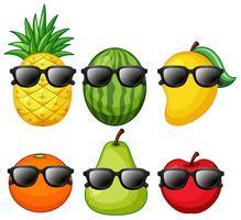 Sats av tropisk frukt