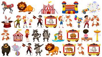 Set von Zirkuselementen