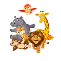 Gruppe wilder Tiere vektor