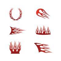 brandflammar i tribal stil för tatuering, fordon och t-shirt deco vektor