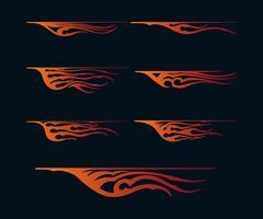 eldflammor i tribal stil för tatuering, fordon och t-shirt dekorationsdesign. Vehicle Graphics, Stripe, Vinyl Ready Vector Art