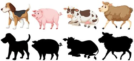 Set von Tiercharakter