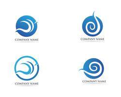 Wellen-Logo und Symbolvorlage