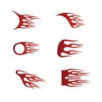 Feuerflammen im Tribal Style für Tattoo-, Fahrzeug- und T-Shirt-Deko vektor