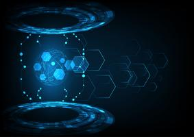 Vektor-Digitaltechnik-Konzept, abstrakten Hintergrund. vektor