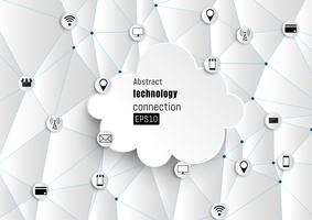 Technologie-Netzwerk. Wachstum Hintergrund.