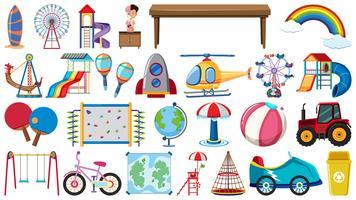 Sats barn leksaker vektor