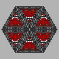 Dämon-Teufel-Maskottchen-Kopf-Vektor Illu