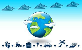 Rund um den Globus reisen