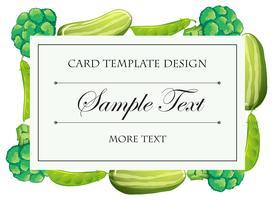 Kartenvorlage mit grünem Gemüse vektor