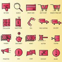 online shoping ikon vektor