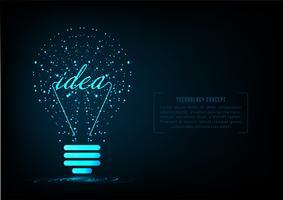 Kreatives Glühlampekonzept