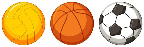 Reihe von verschiedenen Ball vektor