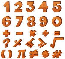 Schriftgestaltung für Zahlen vektor