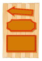 Verschiedene Banner auf Holzwand vektor