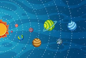 Sonnensystem im Weltall