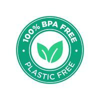 100 Prozent BPA frei. 100 Prozent Kunststoff frei. vektor