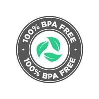 100-prozentiges BPA-freies Symbol. vektor