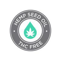 Hampfröoljaikonen. THC Free.