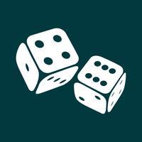 Spel tärningar ikon vektor