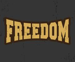 Freiheit Vintage Briefmarke vektor