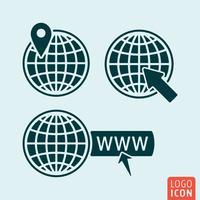 Globe ikon isolerad