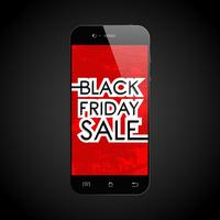 Svart fredagssälj smartphone vektor