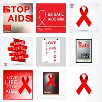 Ställ in AIDS-affisch