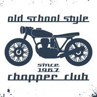 Vintage motorcykel frimärke vektor
