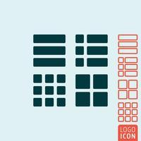 Fyrkantig rektangel ikon vektor