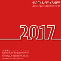 Karte des neuen Jahres 2017 vektor