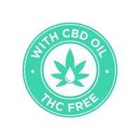 CBD-Öl-Symbol. THC frei. vektor