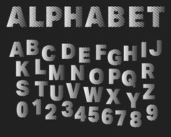Streifen Buchstaben und Zahlen