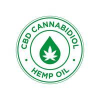 CBD Cannabidiol-Symbol. Hanföl. vektor