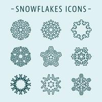 Ställ snöflingor ikoner