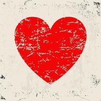 Grunge rött hjärta