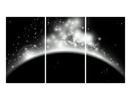 Sterne Nacht Hintergrund vektor
