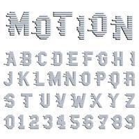 Alfabet rörelse design vektor