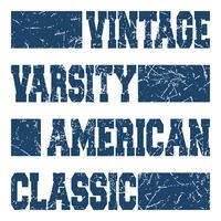 Amerikanische klassische Briefmarke vektor