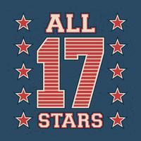 Alla stjärnor vintage frimärke