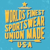 Sportswear Vintage Briefmarke vektor