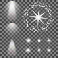 Leuchtende Lichter und Sterne vektor