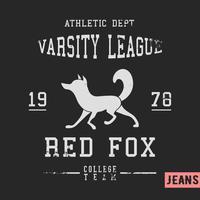 Fox vintage frimärke