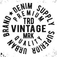 Vintage Runde Siegelstempel vektor