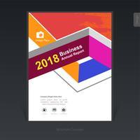 Geometrisk färgrik affärsbroschyr, omslagsdesign, flygblad - Vektorillustration vektor