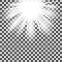 Stjärnstrålarna är genomskinliga vektor